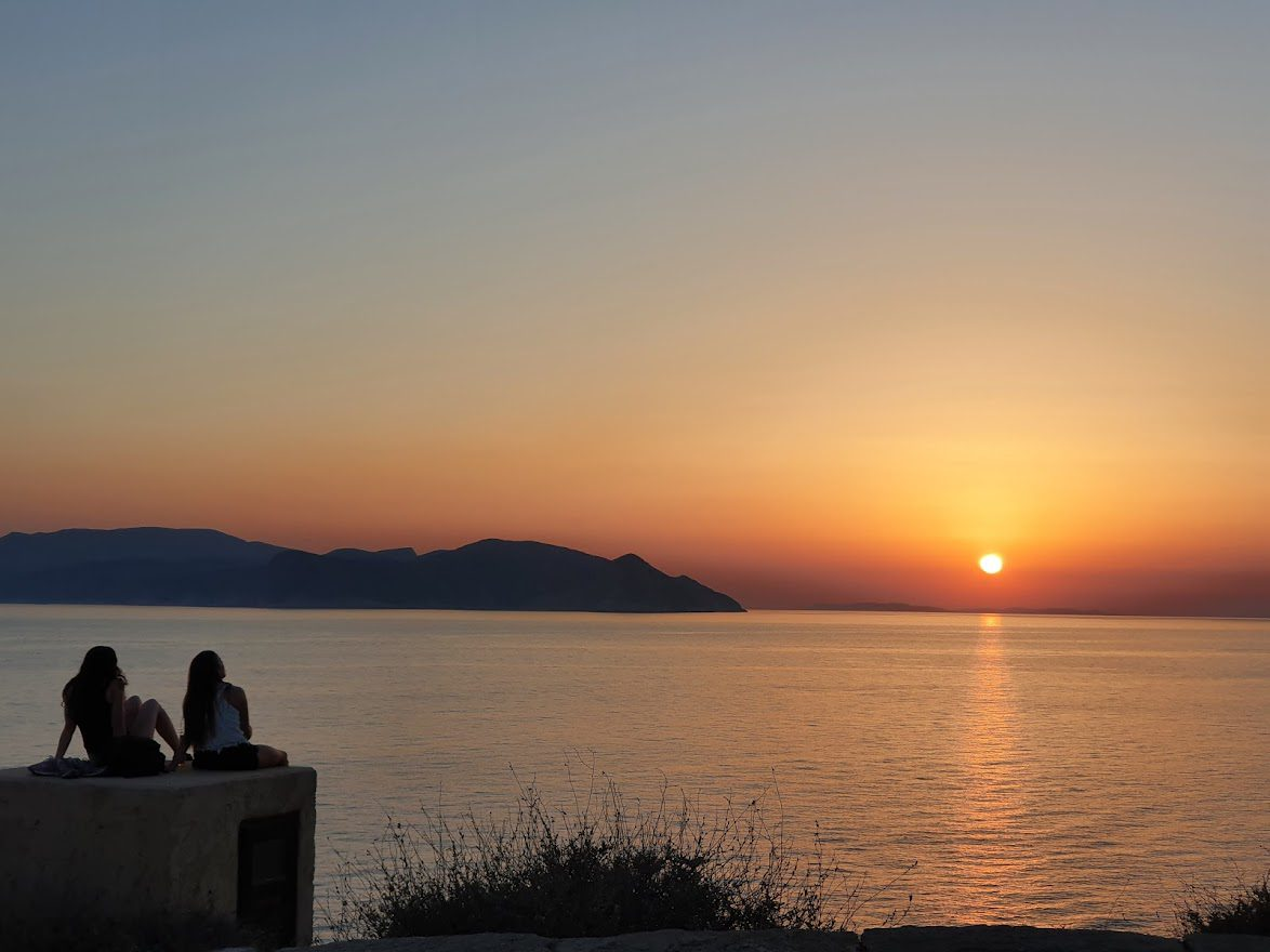 Watching sunset in Ios island