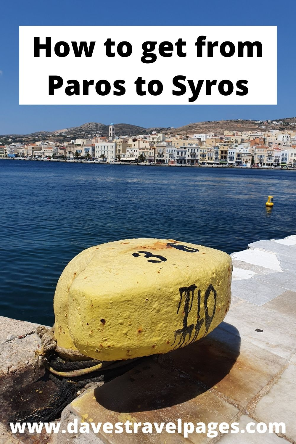 How to take the ferry from Paros to Syros in Greece