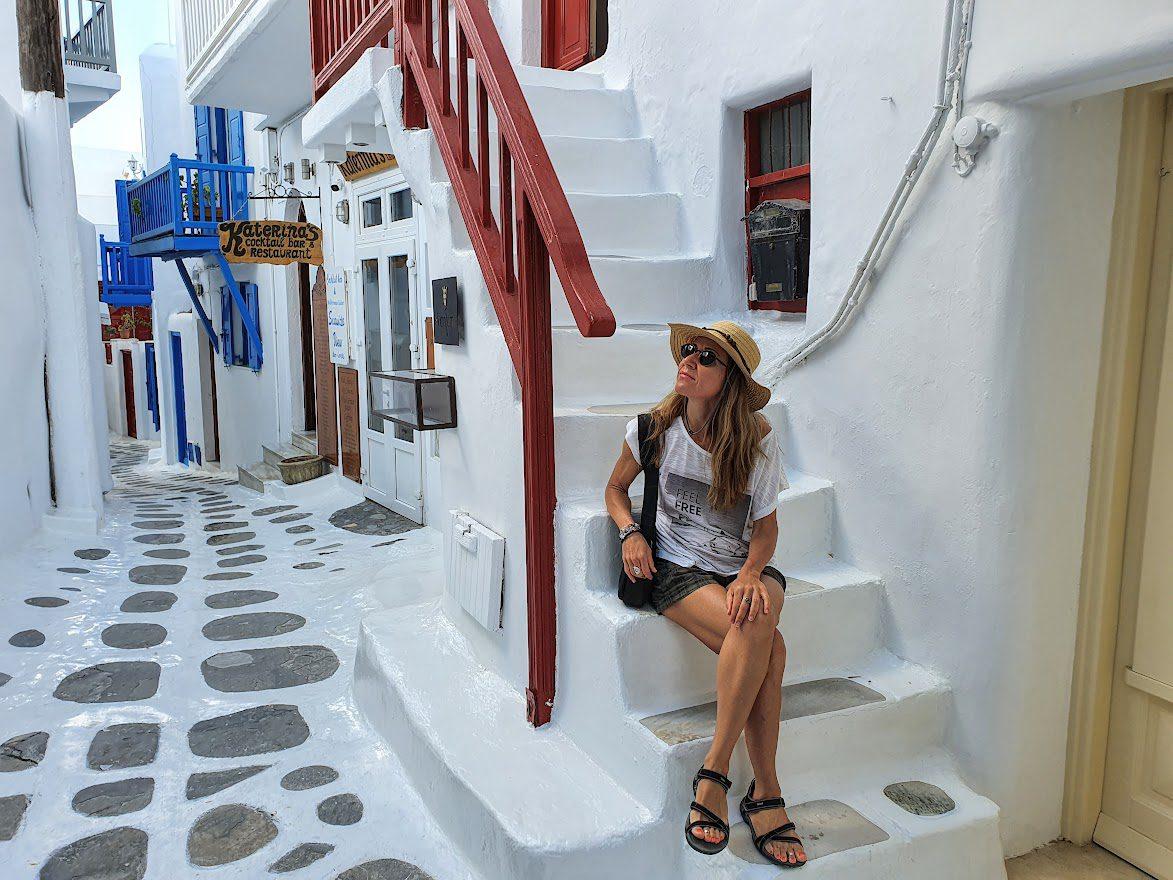 Walking around Mykonos Old Town