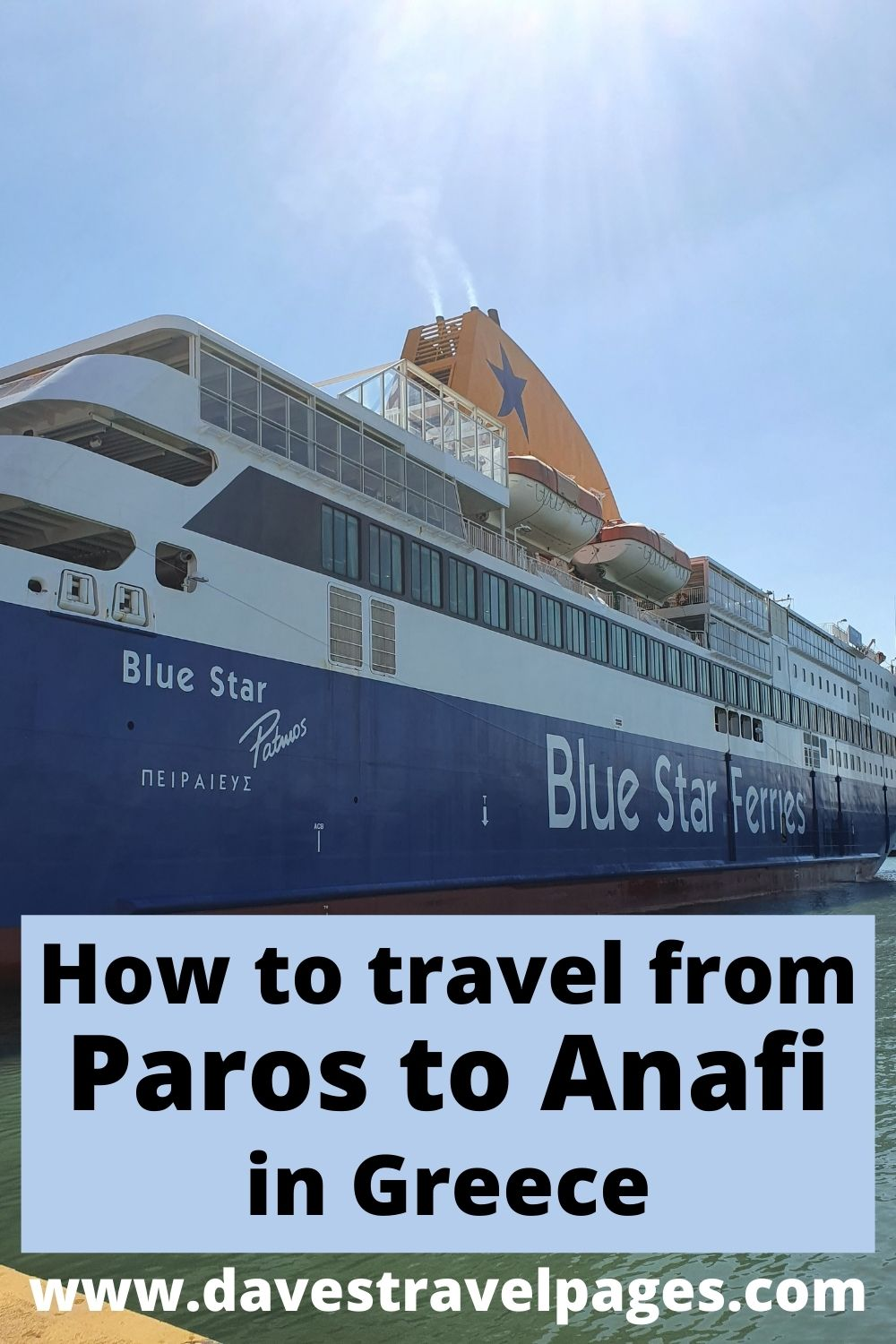 How to travel from Paros to Anafi island in Greece