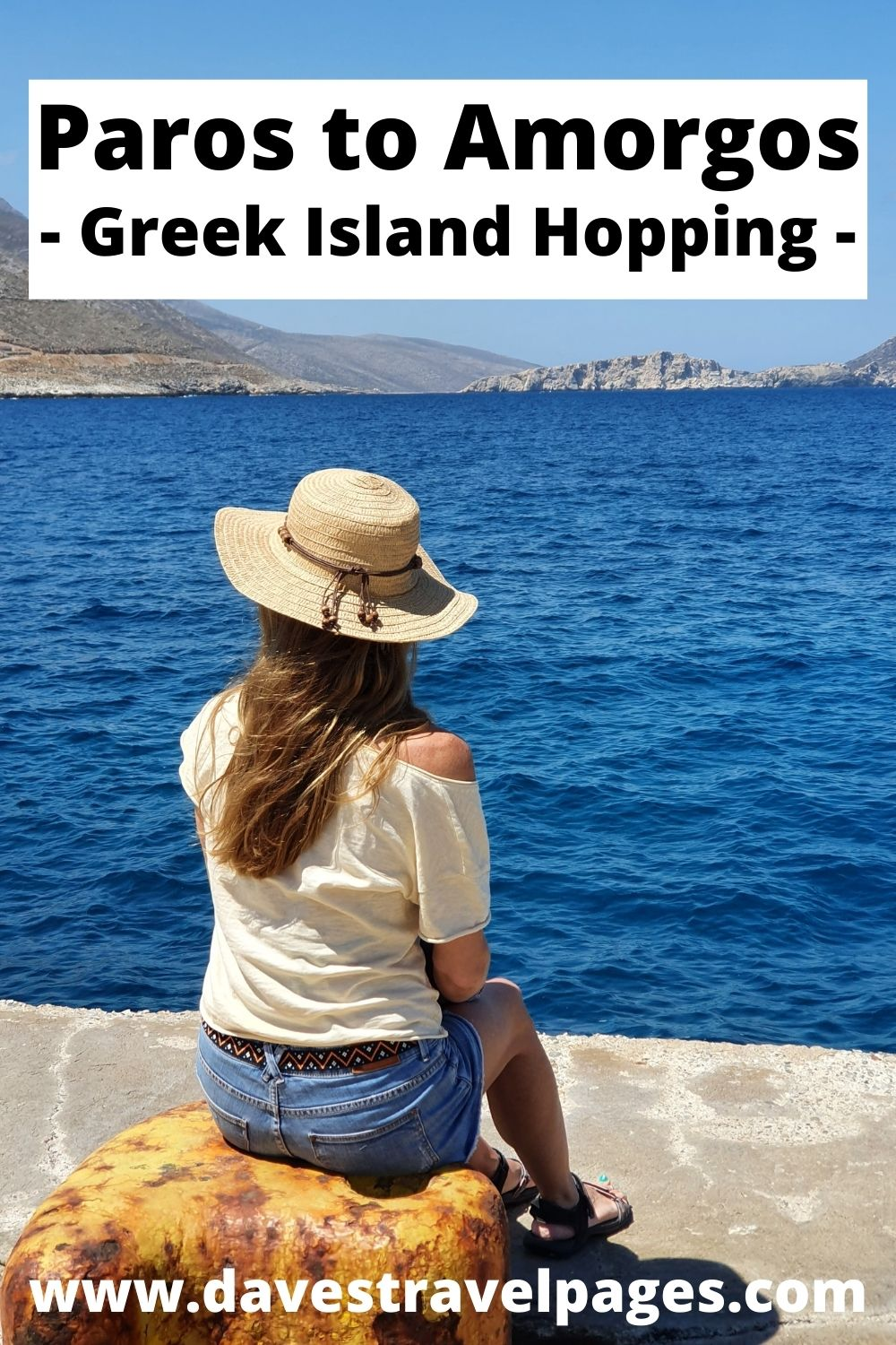 Taking the ferry from Paros to Amorgos in Greece