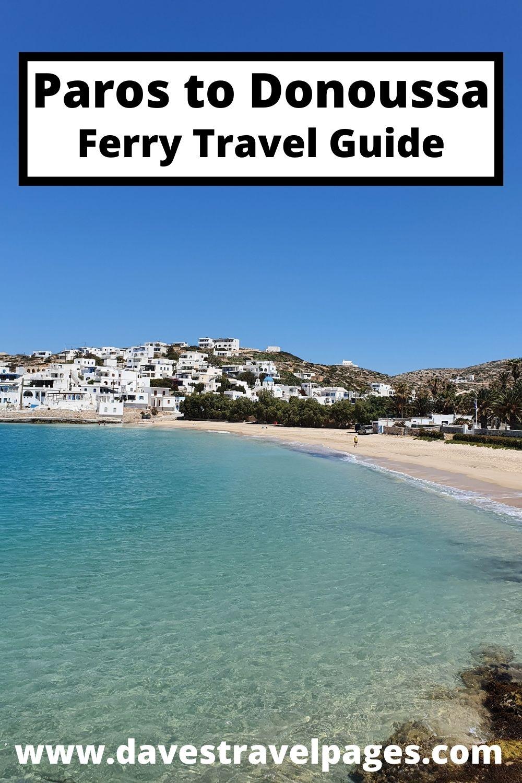Paros to Donoussa Ferry Travel Guide