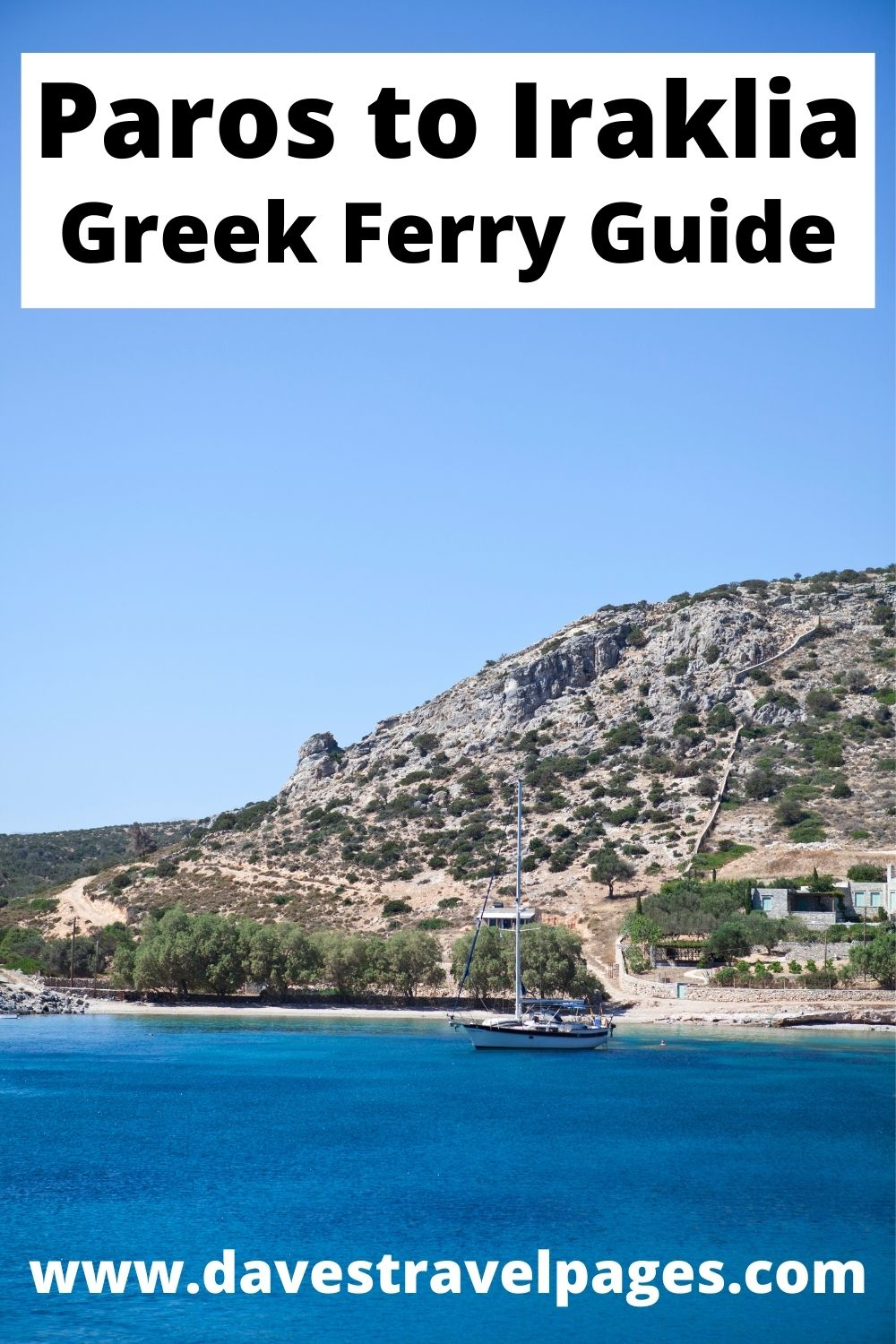 How to get from Paros to Iraklia in Greece by ferry