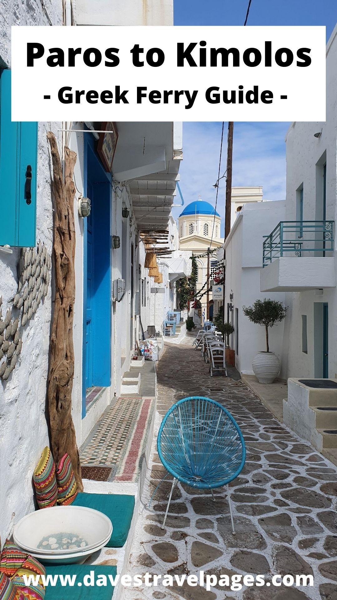 Paros to Kimolos by Ferry