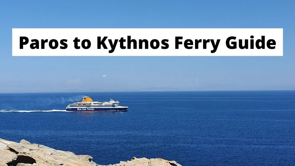 Traveling from Paros to Kythnos by ferry