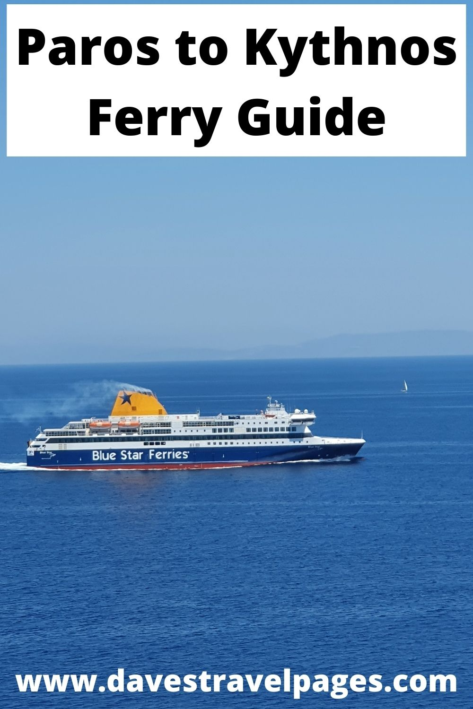 Paros to Kythnos by ferry
