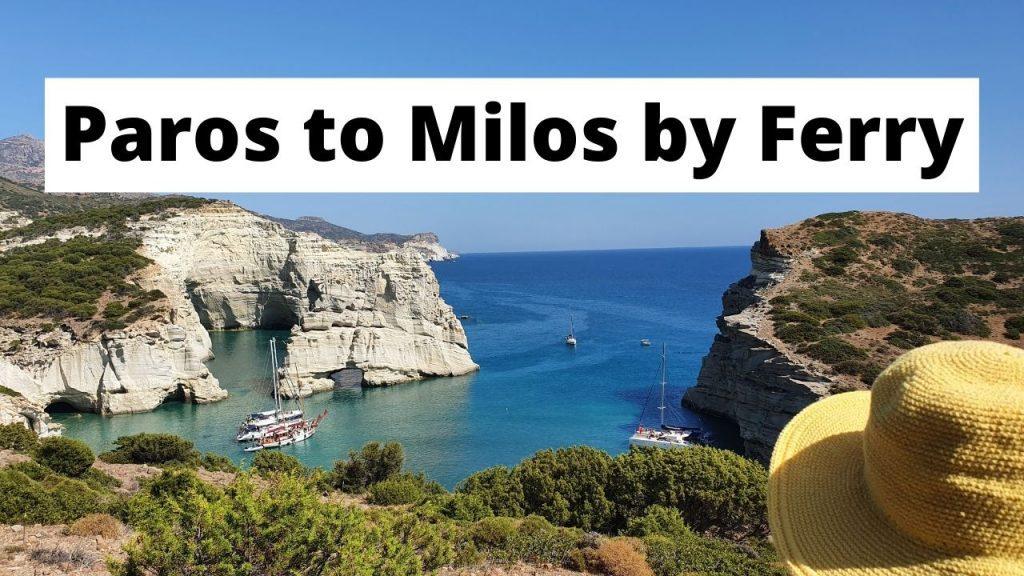 How to take the Paros to Milos ferry