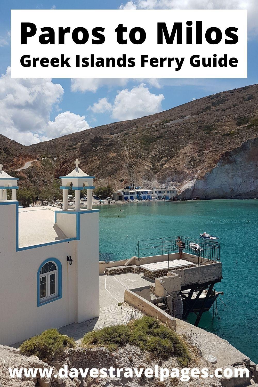 Paros to Milos ferry guide