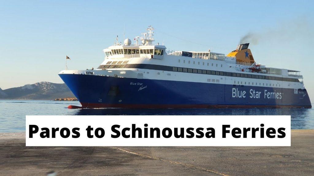 Paros to Schinoussa ferries guide