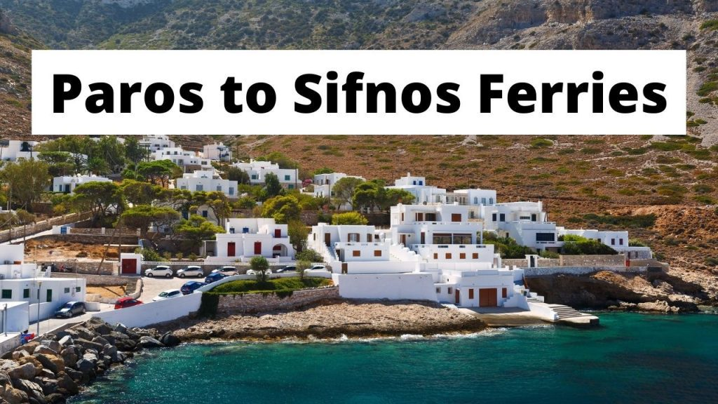 Paros to Sifnos Ferries
