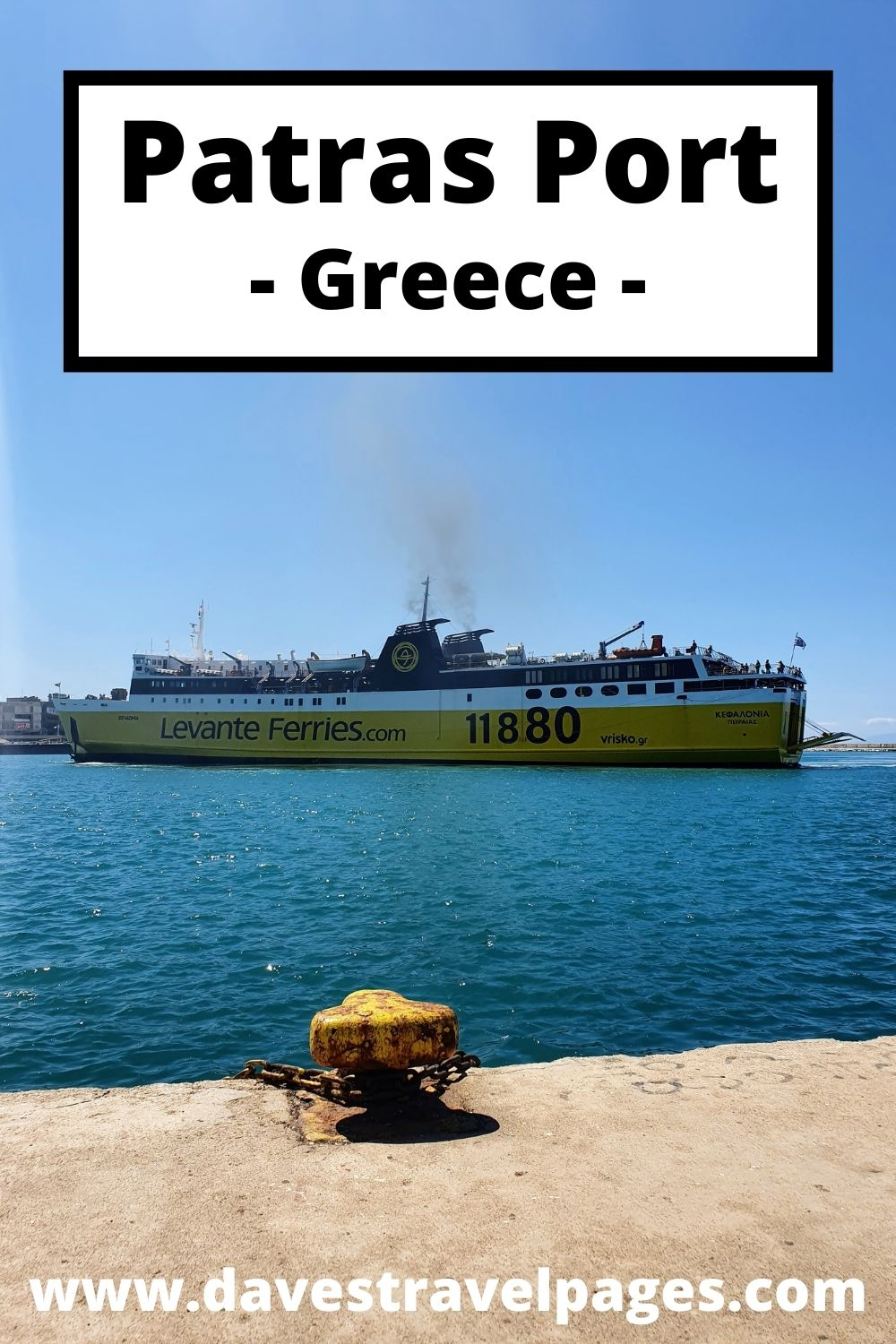 A guide to the Port of Patras in Greece