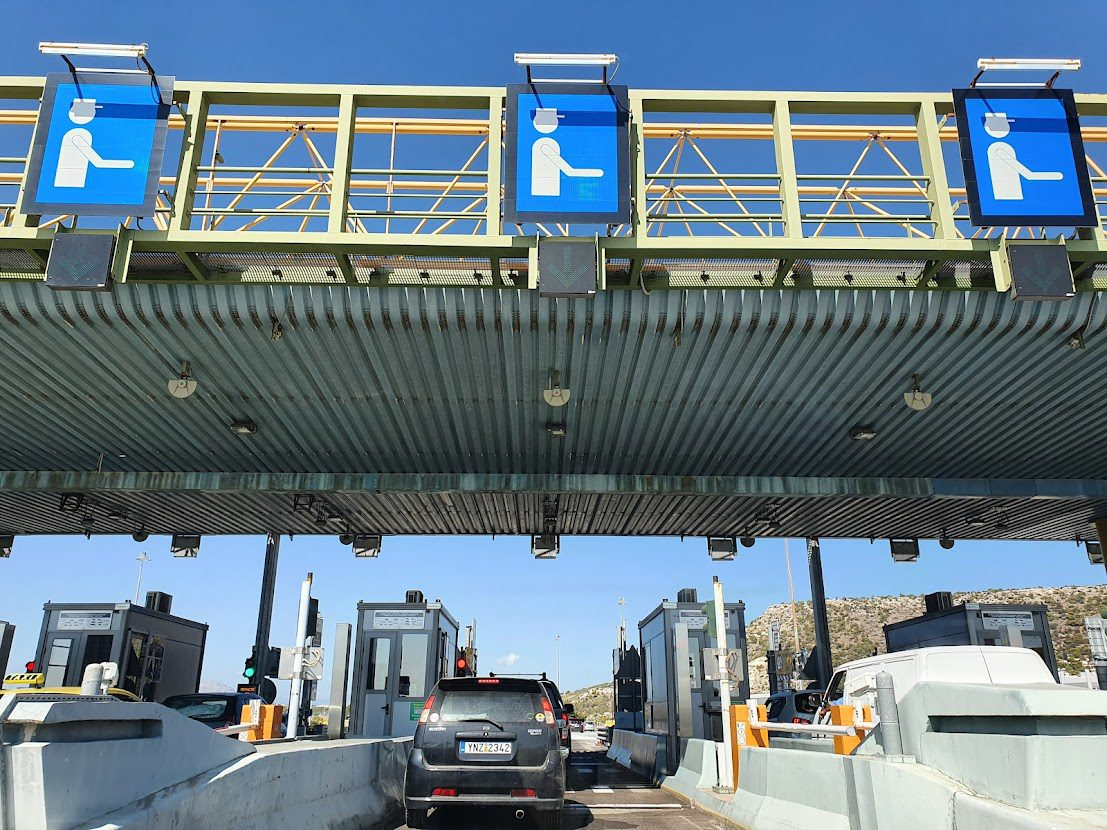 Using a toll road in Greece when driving from Athens to Patras port