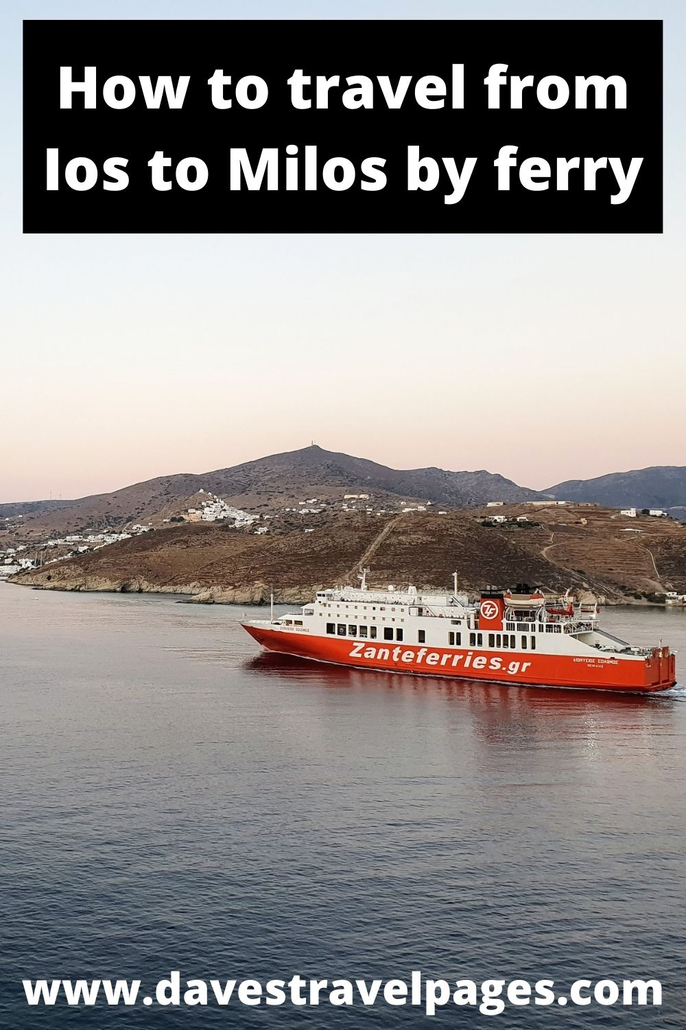 How to travel by ferry from Ios to Milos island in Greece