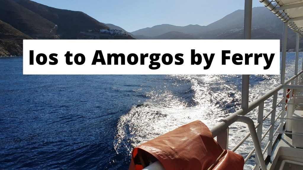 Traveling from Ios to Amorgos in Greece by ferry