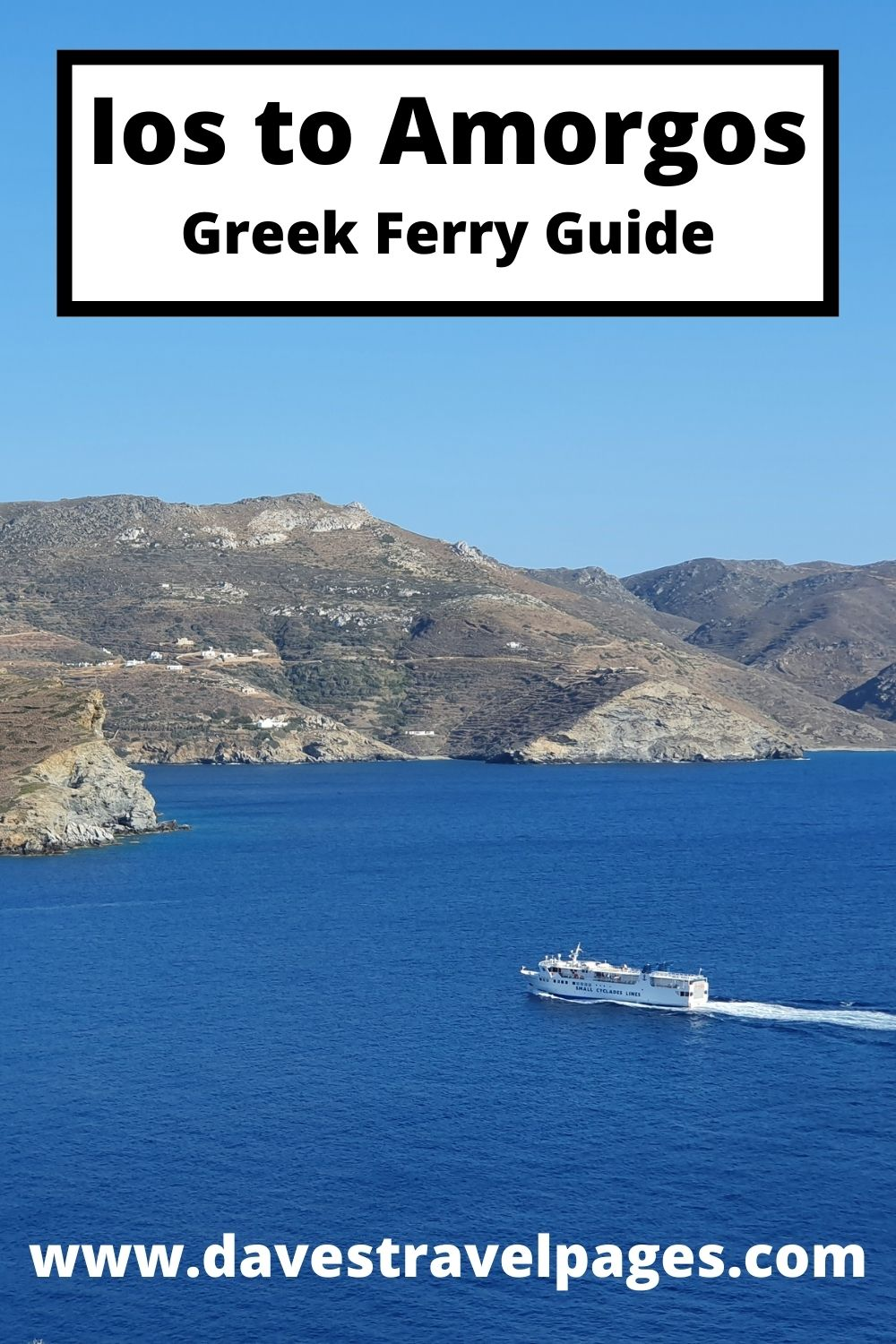 How to get from Ios to Amorgos by ferry