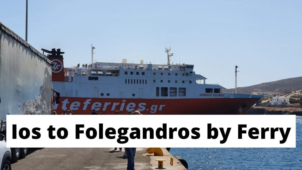 Travelling from Ios to Folegandros by Ferry