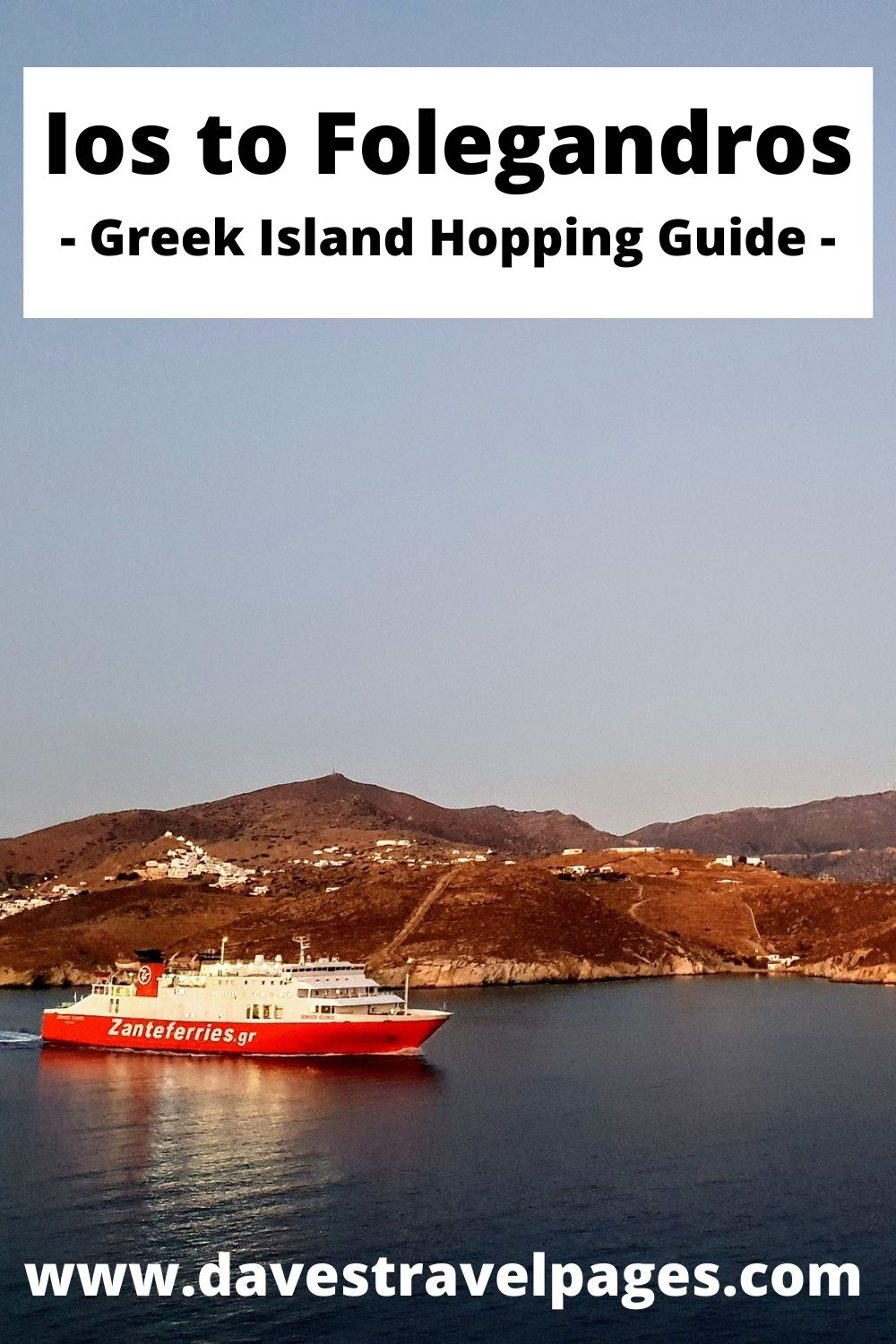 How to travel from Ios to Folegandros by ferry