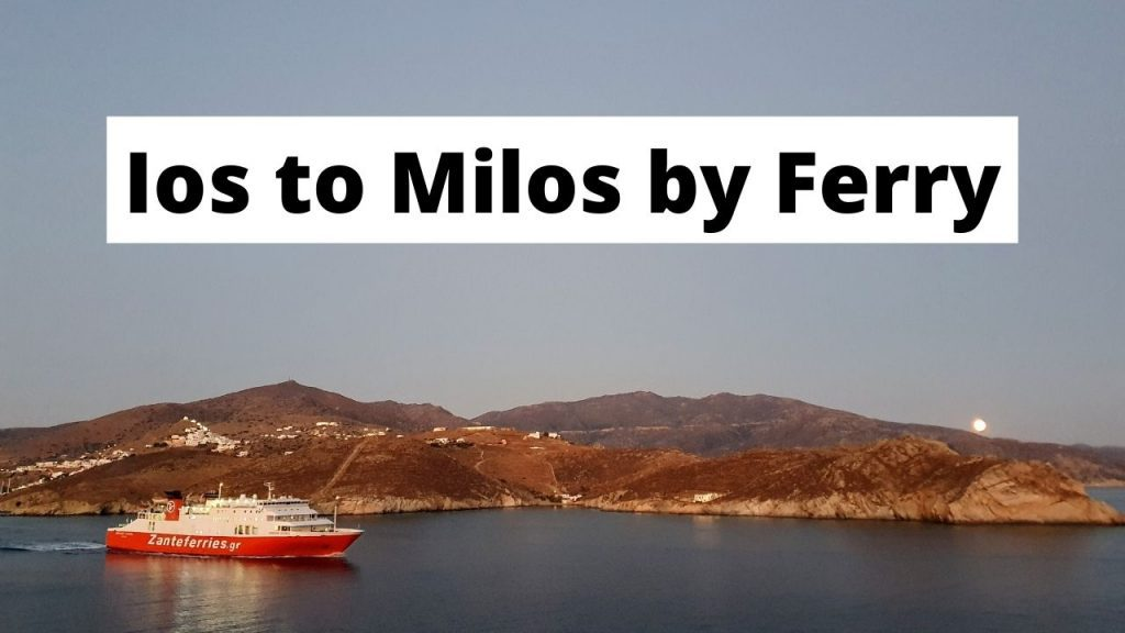 Traveling from Ios to Milos by ferry