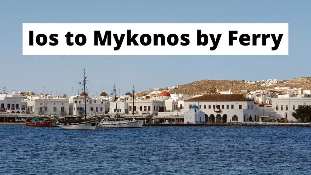 Traveling from Ios to Mykonos by ferry