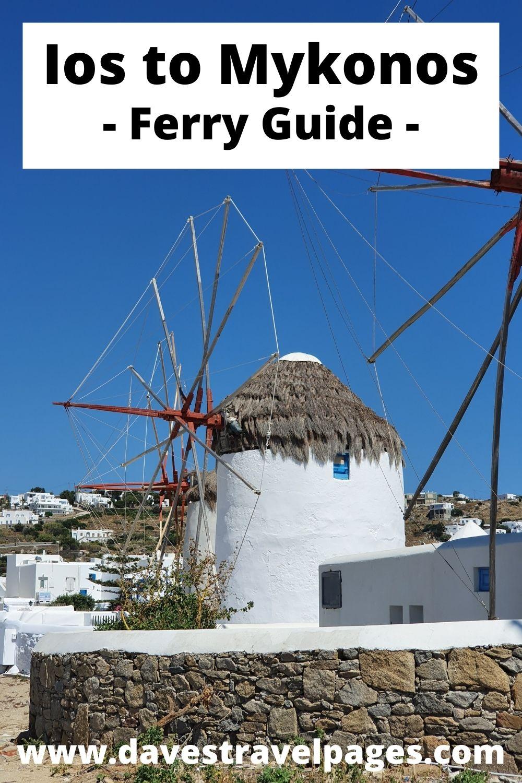 Ios to Mykonos Ferry Schedules