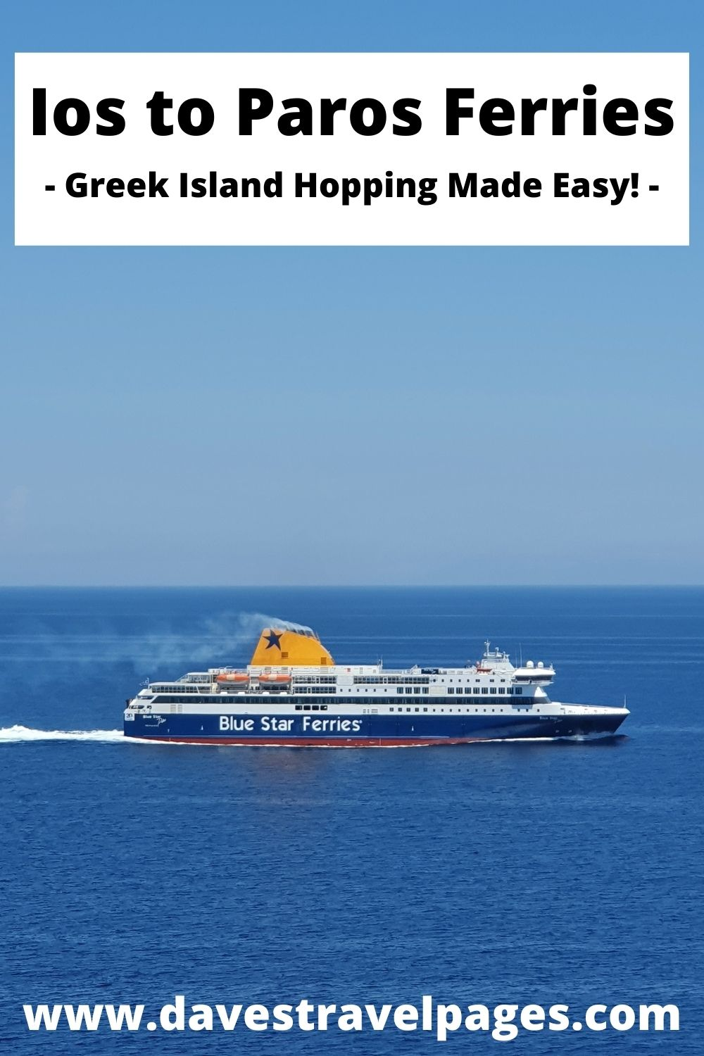 How to travel from Ios to Paros by ferry