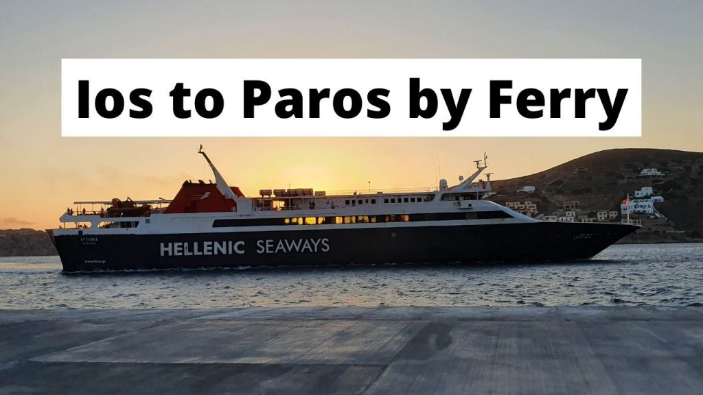 Traveling from Ios to Paros by ferry