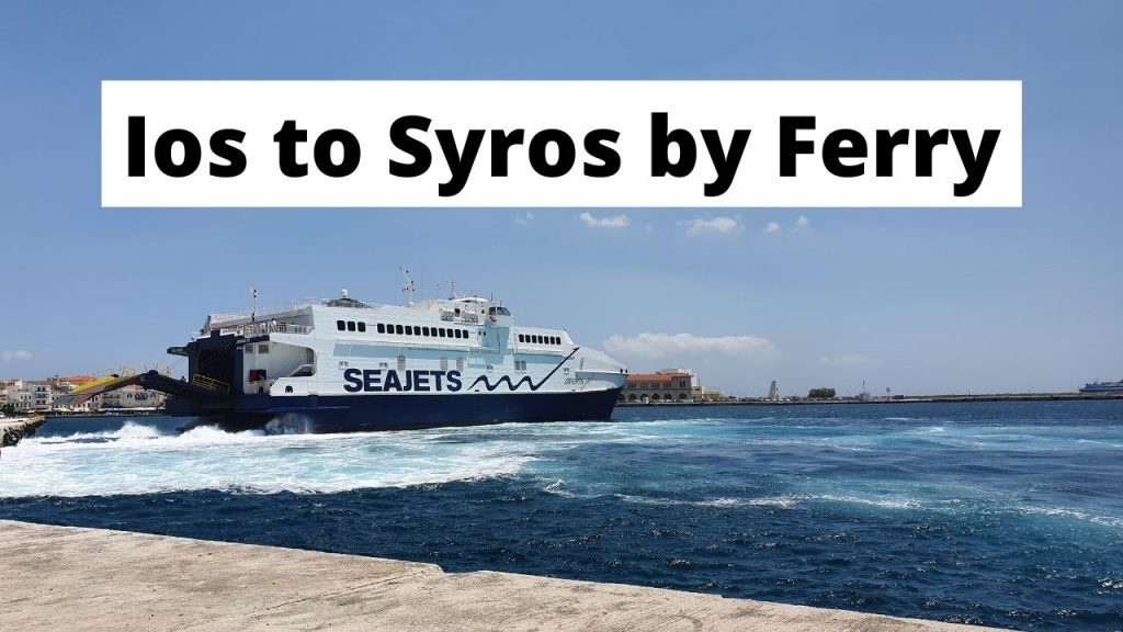 Taking the ferry from Ios to Syros in Greece
