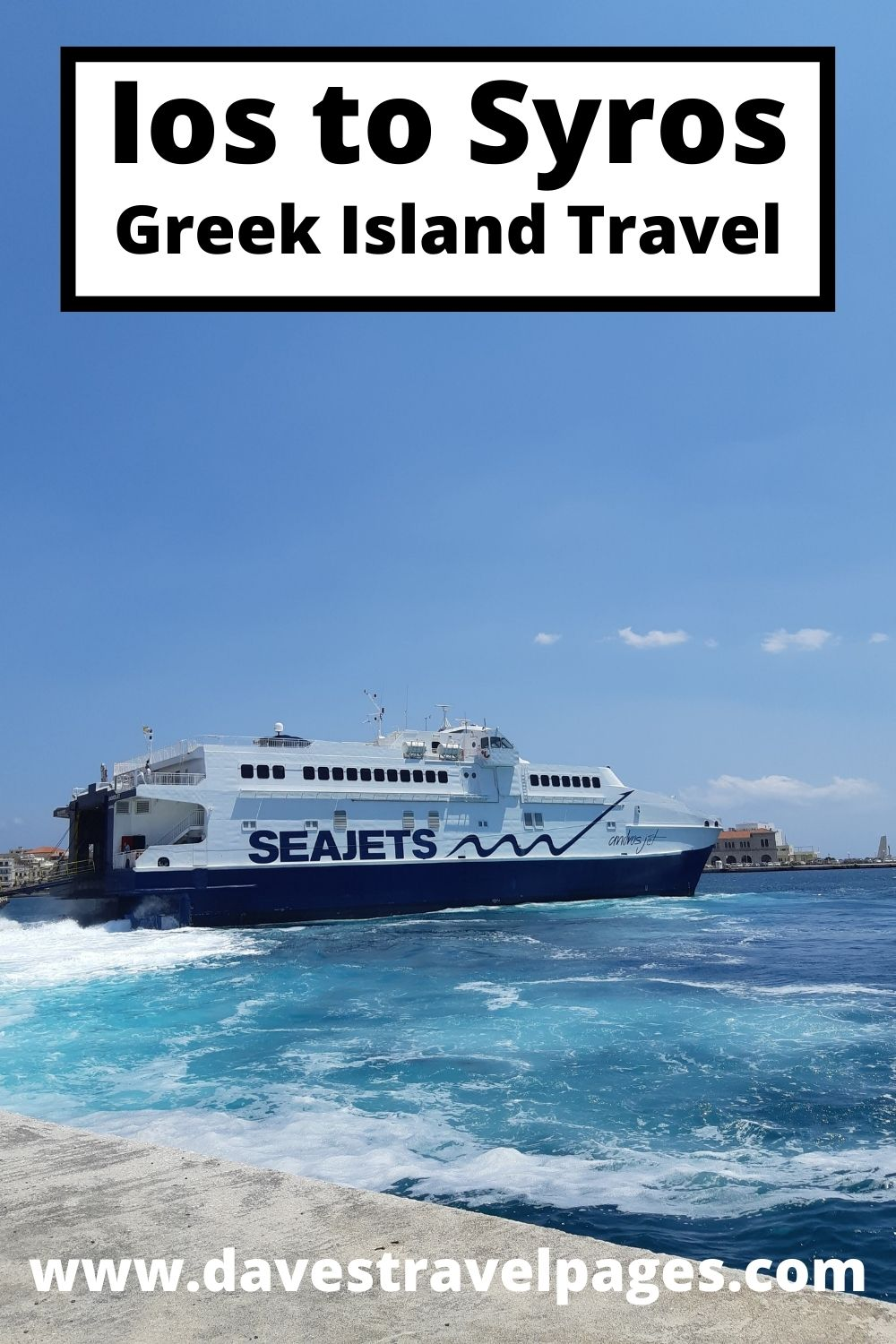 Traveling from IOs to Syros by ferry in Greece