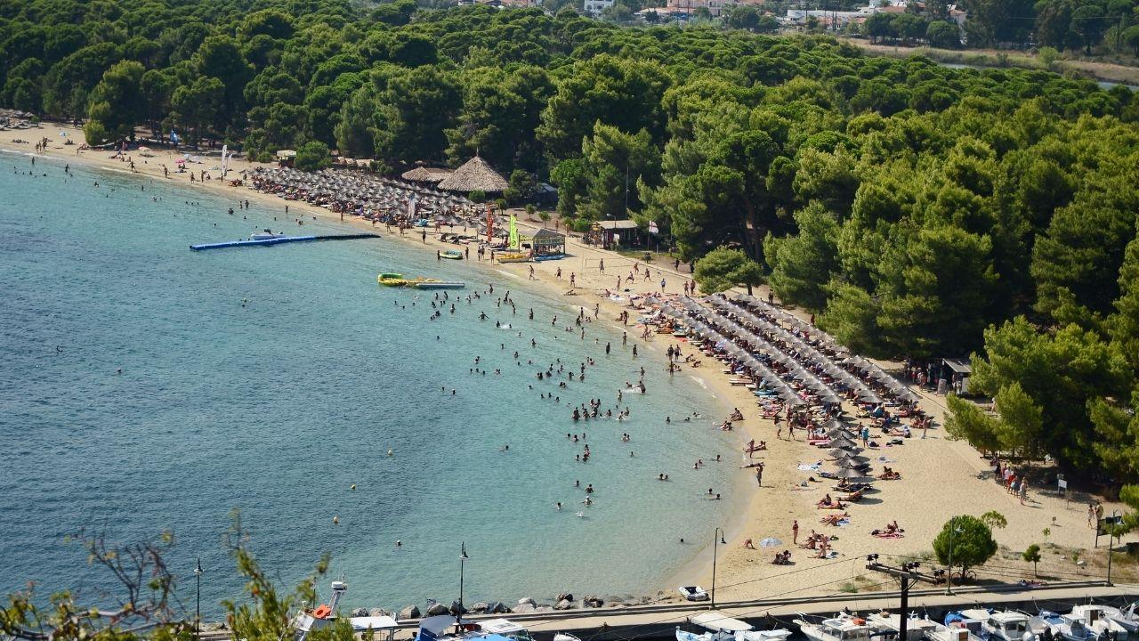 Koukounaries Beach in Skiathos, Greece
