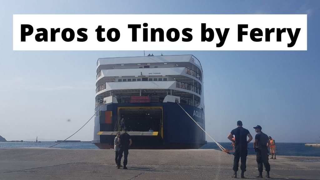 Traveling from Paros to Tinos by ferry
