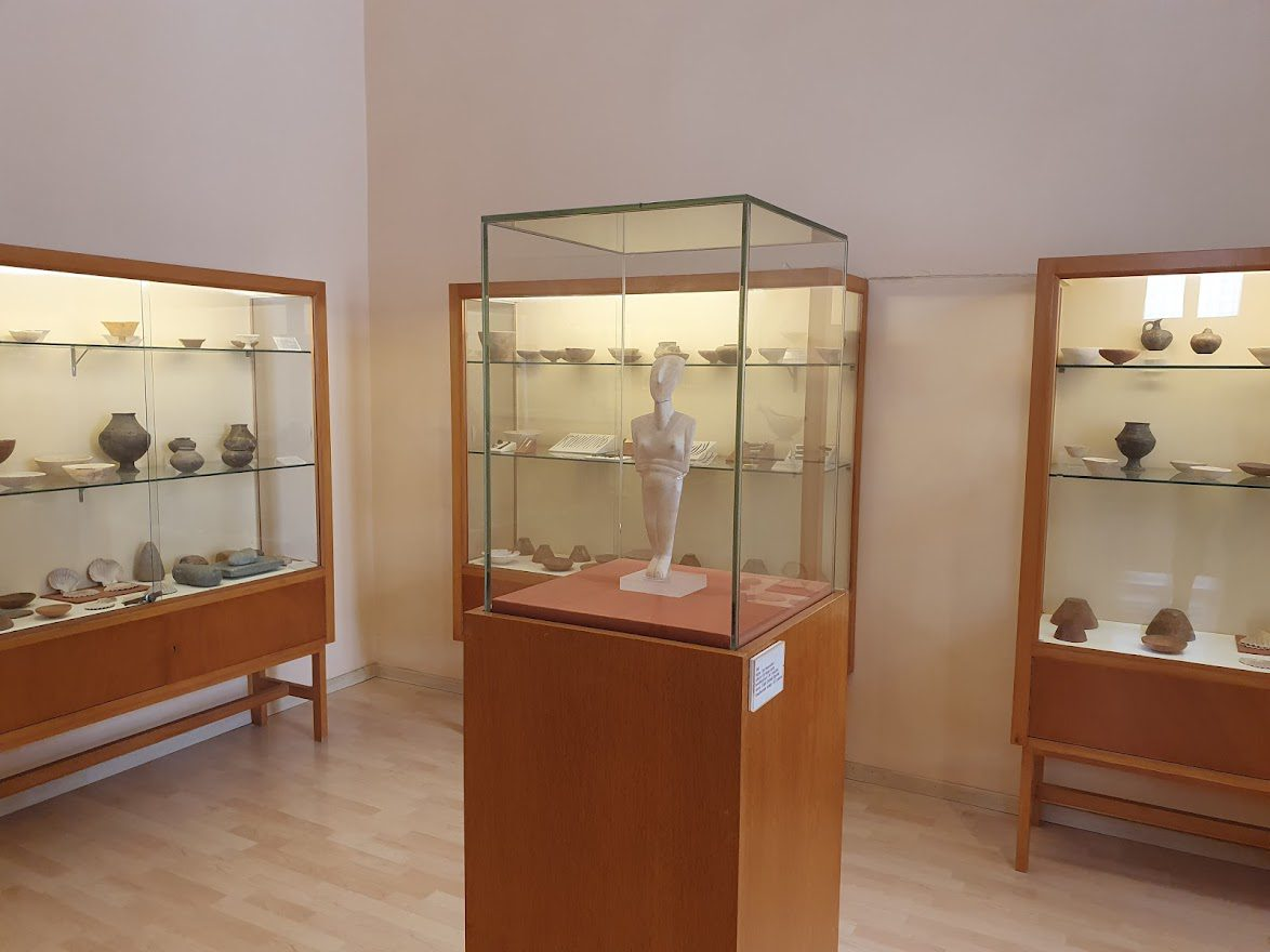 Inside the archaeology museum in Ermoupoli
