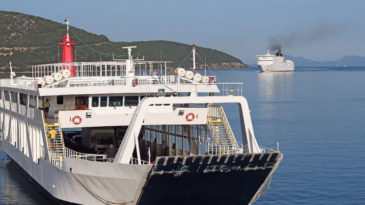Taking a Corfu ferry boat