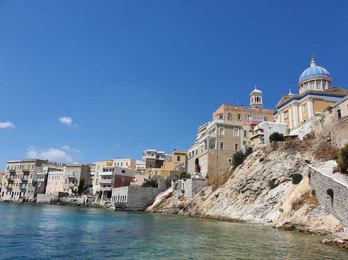 Ermoupoli in Syros Greece