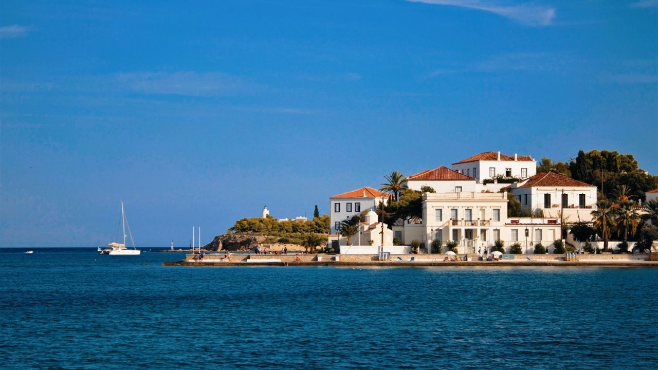 View of Spetses island